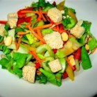 Almond and Baby Bok Choy Asian Salad - This crispy salad uses authentic Asian ingredients and the sauce is delicious.