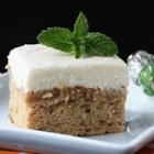 Frosted Banana Bars - Great tasting banana bars that are moist and sweet. Frost with cream cheese icing and enjoy!