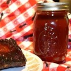 Bourbon Whiskey BBQ Sauce - Lots of good stuff go into this terrific sauce: brown sugar, ketchup, liquid smoke, Worcestershire, hot pepper sauce, a few other yummy ingredients and almost one cup of whiskey. The ribs won't know what hit them.
