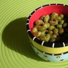 Spicy Roasted Edamame - This great dish can be served hot as a vegetable side dish, or cooled and served as a snack.