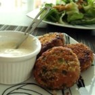 My Crab Cakes - Great crab cakes with lots of flavor and spice. Serve with a crisp white wine!