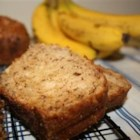 Banana Sour Cream Bread - Sour cream gives a tangy twist to this otherwise traditional banana bread recipe.