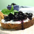Catherine's Pickled Blueberries - Think of this as blueberries with a bite. Serve this sweet/tangy sauce spooned over ripened goat cheese for a knock-'em-dead appetizer.