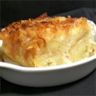 Coconut Bread Pudding - The classic bread pudding is enhanced with coconut flakes and coconut milk.