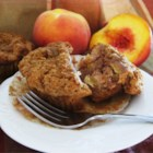 Peach Muffins - In my hurry to use up some peaches, I came up with this muffin recipe. It turned out so good, like peach cobbler in a muffin, that I thought I'd share it with everyone!