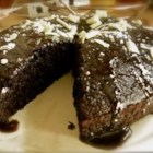 Chocolate Glaze II - A glaze for the top of a chocolate Bundt cake.