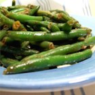 Chinese Green Bean Stir-Fry - Asian-style green beans with lots of flavor! This recipe is made for a large party; but can be scaled down for a family dinner.  Serve cold or warm.