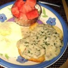Sawmill Gravy - A thick milk gravy. Serve on biscuits with sausage and eggs.