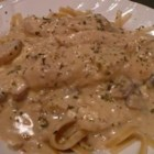 Alfredo Blue - A blue cheese, Parmesan cream sauce for fettuccini with a sprinkling of Italian seasoning.