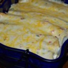 Easy White Chicken Enchiladas