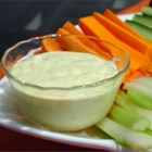 Vegetable Dip - This mayo-based dip gets its golden color from curry powder and its bite from horseradish and tarragon vinegar. Serve with any vegetable dippers.
