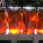 Pickled Peaches - These peaches are very different and very yummy. We had a bumper crop of peaches one year and I remember my grandmother making these. We ate them for months and I still love them.
