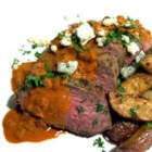 Beef Tenderloin Asturias - Pan-seared beef tenderloin steaks are bathed in a delicious blue cheese-white wine sauce in this delicious Spanish main dish.