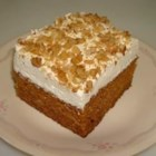 Carrot Cake Bars - This is a very moist carrot cake using baby food carrots. I frost it with a Cream Cheese Frosting, then cut into bars.