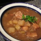 Apple and Pork Stew - This stew is a savory blend of pork, apples, wine, and vegetables with just a hint of sweetness.