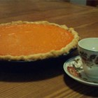 Sweet Potato Pie VIII - Lemon juice, nutmeg and vanilla do wonderful things for this tasty sweet potato pie. And a combination of milk and cream make the filling smooth and rich. All the ingredients are stirred up in one bowl, so making this pie is a snap, and it bakes in an hour. Serve warm or cold with a bowl of just-whipped cream.