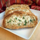 Toasted Garlic Bread - Quick and scrumptious garlic bread that will complement any Italian meal. Melted mozzarella is optional, but delicious!