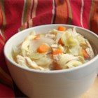 Thai Chicken Cabbage Soup - This is a low-fat, low-cal soup that's incredibly filling and delicious.  I eat this at least once a week!  I don't know how it tastes cold, though. Don't be afraid to vary the proportions of various foods on your own!