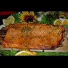 Simple Sassy Salmon - A sweet and tangy marinade doubles as a tasty glaze for this easy broiled salmon.