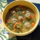 California Italian Wedding Soup - This is my variation of a standard recipe. I like fresh basil and a little lemon rind, so those are basically my only changes. This is a quick and easy soup with flavors that impress all.