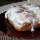 Mom's Good Cinnamon Rolls - Easy to make yeasted cinnamon rolls that are tied into bow shapes and baked in a pan.