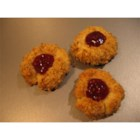 Jam Thumbprints - Delicious and attractive little cookies, with a thumb indentation filled with preserves. Fill with different colored preserves for an interesting presentation.