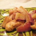 Em and Nic's Apple Chicken - Chicken breasts are cooked in a sweet, spicy sauce with raisins. Kids love it!
