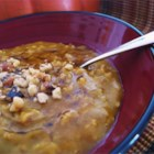 Pumpkin Oatmeal - This oatmeal recipe has the flavors of soy milk, pumpkin, cinnamon, walnuts, and honey.