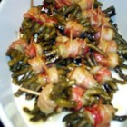 Sweet Green Bean Bundles - Green beans are wrapped in bacon and baked with butter, brown sugar and just a hint of garlic salt.