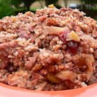 Slow Cooker Fruit, Nuts, and Spice Oatmeal - This delicious and creamy oatmeal is slow-cooked overnight with apples, cinnamon, cranberries, almonds, and pecans.