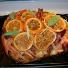 Orange Glaze for Ham - This is a easy, sweet but tangy glaze that goes perfectly with ham.