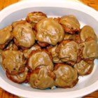 Persimmon Cookies III - Great for Christmas Cookies! A spicy and moist cookie made from persimmon pulp. Raisins and nuts make them extra special.