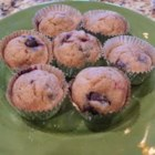 No-Sugar-Added Blueberry and Banana Wheat Muffins - Bananas and blueberries provide the only sugar in this muffin recipe.