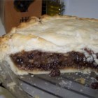 Blue Ribbon Mincemeat Pie Filling - Never knew there was real meat in mincemeat did you? There 's ground beef, raisins, apples, brandy, cinnamon, nutmeg, and lots and lots of sugar. This recipe yields 8 pints of filling and freezes well.