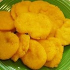 Hot Water Cornbread - The simplest recipe for cornbread involves mixing cornmeal with sugar, salt, water and shortening or bacon fat.  Little cakes are then fried and served warm, drizzled with honey or maple syrup.