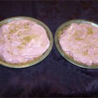 Pink Pie - This is a light pie made with strawberry flavored gelatin and whipped evaporated milk.