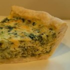 Light and Fluffy Spinach Quiche - Very tasty and fluffy quiche made with spinach and cheddar. Easy to prepare.