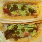 Guaco-Tacos - Guacamole, beans, and homemade salsa combine to make a light, flavorful alternative to traditional tacos.