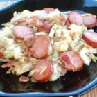 Kielbasa and Cabbage II - My family loves this recipe! It is great on a snowy day when you need a whole body warm up and is VERY easy on your pocketbook. Serve over rice.