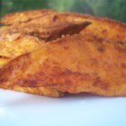 Sweet Potato (Kumara) Wedges - Sweet potato wedges are lightly spiced, and baked until golden brown.