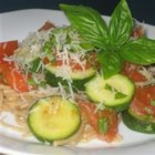 Angel's Pasta - Light and delicate vegetarian pasta entree that's easy!