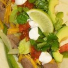 Steak Fajitas - Beef strips are marinated for 2 to 4 hours in lime juice with cilantro, then sauteed, and simmered with green pepper, onions, and additional lime juice.