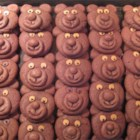 Chocolate Teddy Bear Cookies - Cookies shaped like teddy bears.