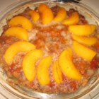 Beef Peach Pie - A meatloaf with a twist.  The peaches add a sweet touch and go well with the ground beef.