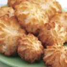 Easy Coconut Macaroons - Sweet chewy macaroons with a chocolate topping.