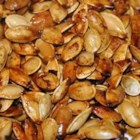 Sweet and Spicy Pumpkin Seeds - Butter, salt, Worcestershire sauce, brown sugar, and hot sauce are all you need to spice up your pumpkin seed haul from Halloween decorating or any fall cooking involving pumpkins.