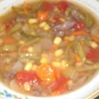 Delicious Vegetable Beef Soup - This is truly delicious! This is a variation of my mother-in-laws soup with a little more vegetable and broth to make it more of a meal. I hope you enjoy it!