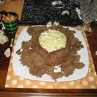 Spinach Dip in Pumpernickel - Very good! Not your ordinary spinach dip. This one is served hot with toasted bread cubes.