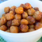 Indian-Spiced Roasted Chickpeas - Spicy roasted chickpeas are crisp, spicy little nibbles. This is one snack that you can feel good about munching.