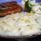 Creamy Polenta with Roasted Corn and Fresh Sage - Cornmeal is transformed into polenta when simmered with milk and water.  The polenta is served with fresh sage and grated Parmesan.  Or it can be made in advance, chilled for 2 hours and then lighlty fried in butter.
